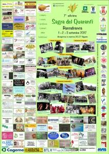 locandina sagra del quarantì 2017 con sponsor